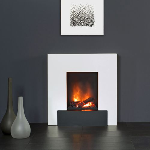 electric fireplace / contemporary / open hearth / free-standing