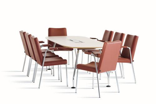 contemporary boardroom table / metal / oak / beech