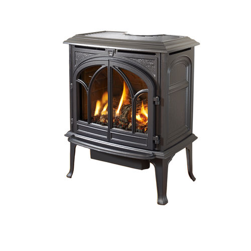 gas heating stove / traditional / cast iron / double-door