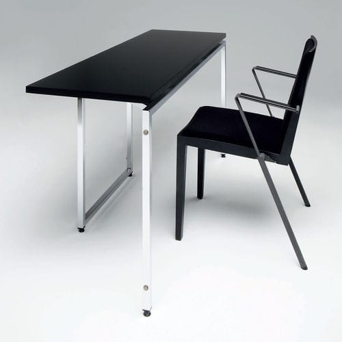 contemporary work table / metal / plywood / laminate