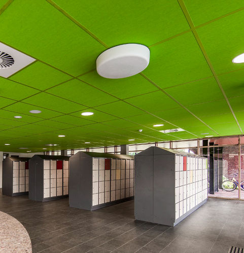 stone wool suspended ceiling / tile / floating / acoustic