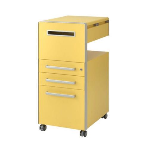 steel office unit / 3-drawer / on casters / original design