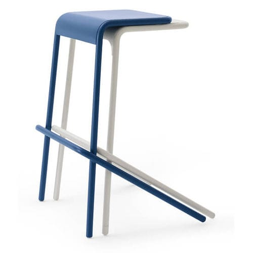 contemporary bar stool / metal / commercial / with footrest
