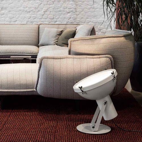 floor lamp / contemporary / aluminum / glass