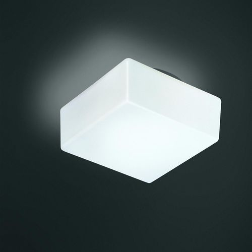 contemporary ceiling light / square / glass / metal