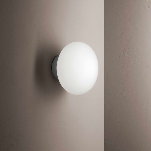 contemporary wall light / blown glass / polymer / LED