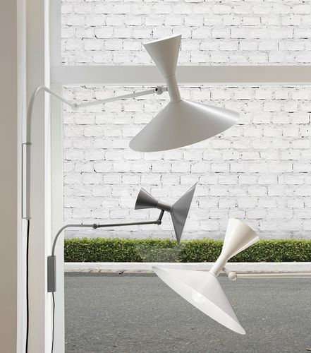 contemporary wall light / aluminum / LED / halogen