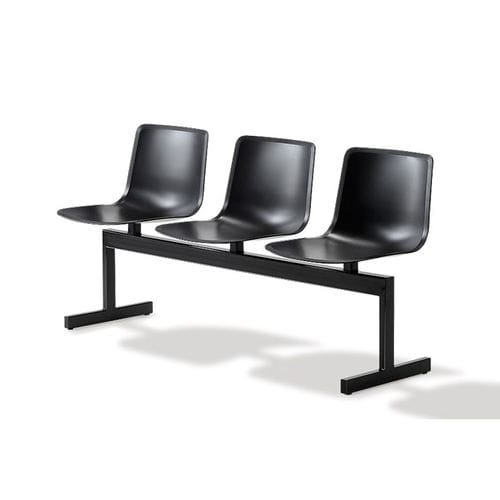 steel beam chair / polypropylene / 3-seater / 4-seater