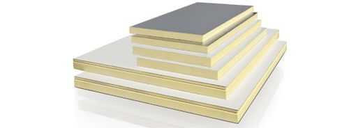 acoustic insulation / thermal / polyisocyanurate (PIR) foam / panel