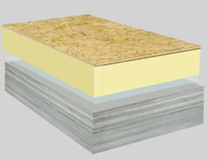 roof sandwich panel / wood facing / polyurethane (PUR) core