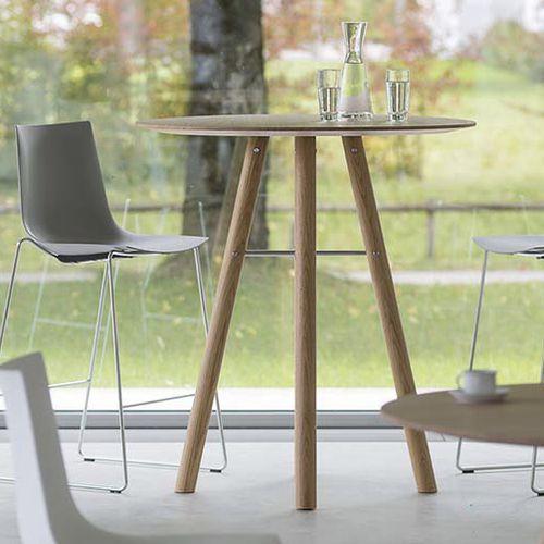 Contemporary High Bar Table Akio, High Round Tables