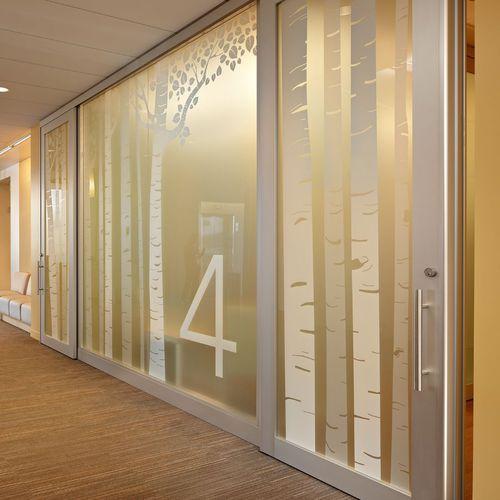 fixed partition / aluminum / wooden / glazed