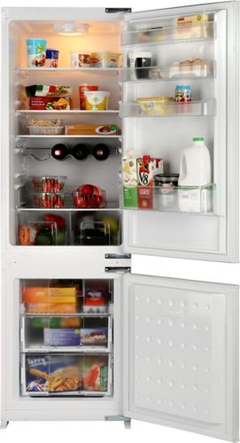upright refrigerator-freezer / white / built-in / bottom freezer