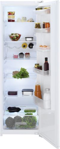 upright refrigerator / white / built-in