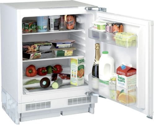 undercounter refrigerator / white / built-in