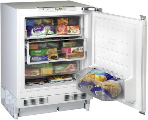 undercounter freezer / white / built-in