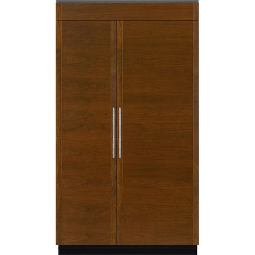 American refrigerator / wooden / built-in