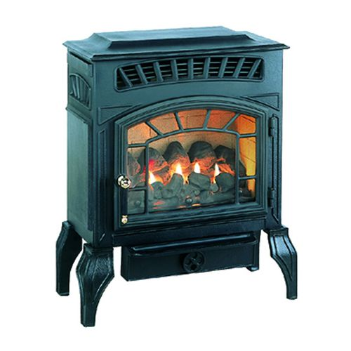 gas heating stove / traditional / ceramic