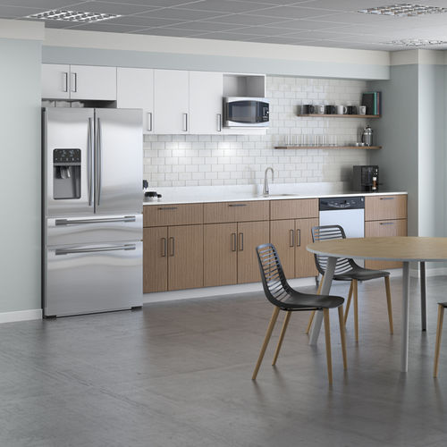 wooden commercial kitchen / with handles / for offices