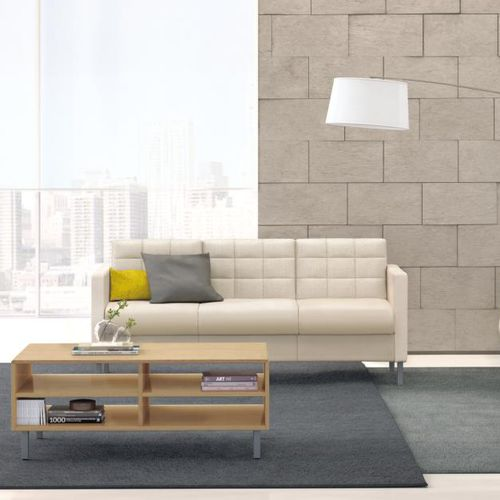 contemporary sofa / fabric / leather / commercial