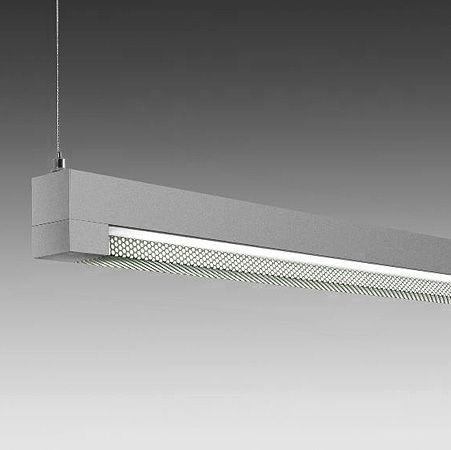 hanging light fixture / fluorescent / linear / extruded aluminum