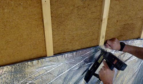 thermal insulation / synthetic / for ceilings / wall