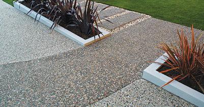 concrete flooring / textured / stone look / exterior