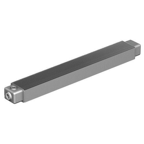 hot water convector / steel / contemporary / rectangular