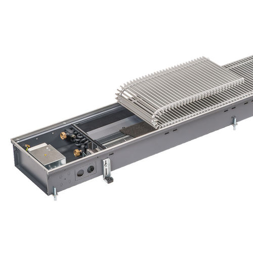 hot water convector / metal / contemporary / for heating and cooling