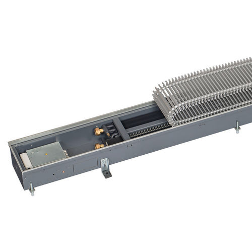 hot water convector / metal / contemporary / with ventilator