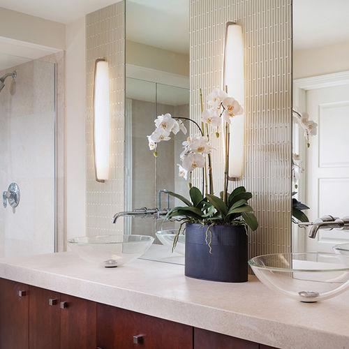 contemporary wall light / bathroom / metal / halogen