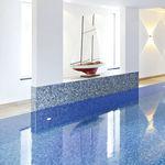 pool mosaic tile / floor / porcelain stoneware / square