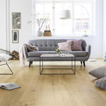 solid parquet floor / glued / nailed / matte finish