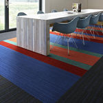 tufted carpet / loop pile / structured / synthetic