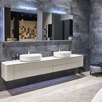 contemporary bathroom / lacquered wood
