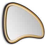 wall-mounted bathroom mirror / LED-illuminated / contemporary / MDF