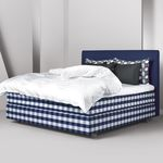 double bed / contemporary / upholstered / cotton