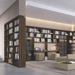 modular bookcase / corner / floor-to-ceiling / contemporary