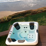 above-ground hot tub / rectangular / multiplace / outdoor