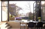 folding door / interior / steel / for public buildings