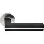 door handle / stainless steel / oak / contemporary