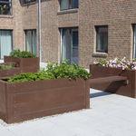 recycled plastic garden planter