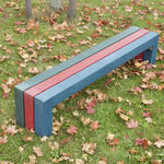 garden bench / classic / recycled plastic / made from recycled materials