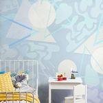 contemporary wallpaper / natural fiber / cellulose fiber / geometric pattern