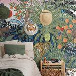 contemporary wallpaper / nonwoven fabric / nature pattern / animal motif