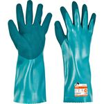 chemical protection glove / anti-cut / nitrile