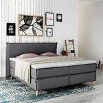 double bed / single / Scandinavian design / upholstered