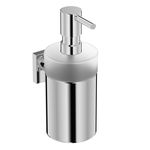 commercial soap dispenser / wall-mounted / chrome / manual