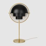 table lamp / contemporary / metal / white
