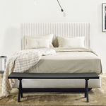 double bed headboard / contemporary / fabric / upholstered